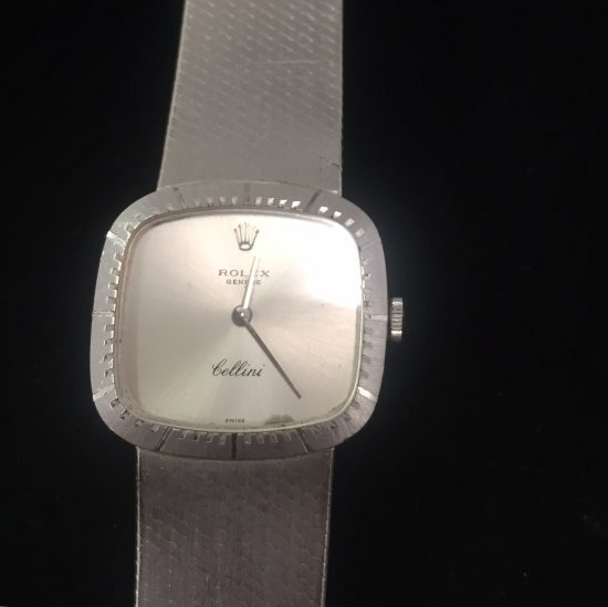 ROLEX チェリー二 K18WG レディース時計 手巻き