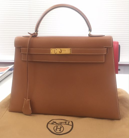 Hermès ケリー32 外縫い クシュベル ゴールド ゴールド金具