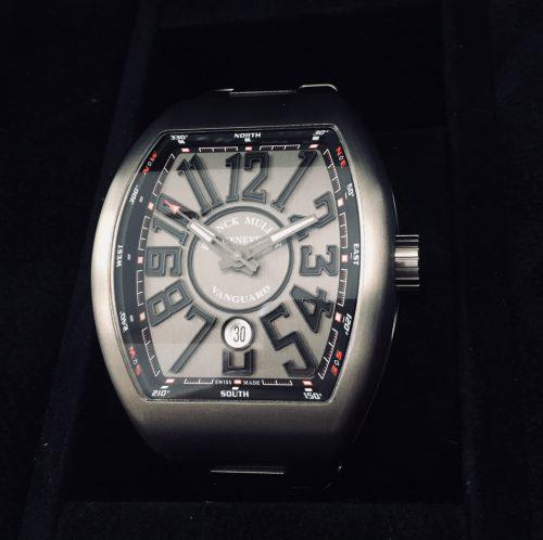 フランクミュラー ヴァンガード チタン グレー文字盤 オートマ V45SCDT TTBRNR メンズ時計