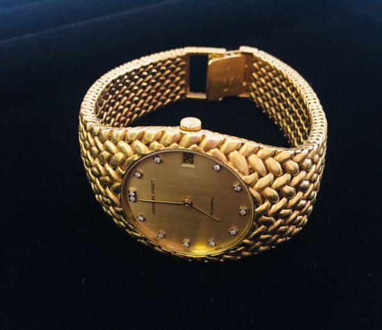 コブラ K18YG メンズ時計 12Pダイヤ シャンパン文字盤 オートマ