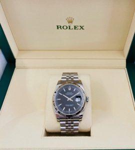 ROLEX デイトジャスト 116234 黒文字盤 ランダム ルーレット 高価買い取り