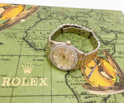 ROLEX デイトジャスト 68289G K18WG ベゼルダイヤ