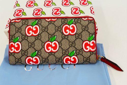グッチ GGアップル ラウンドファスナー長財布 ジップアラウンド べージュ 624880