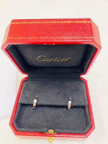 Cartier ミニラブ ピアス K18WG B8028900