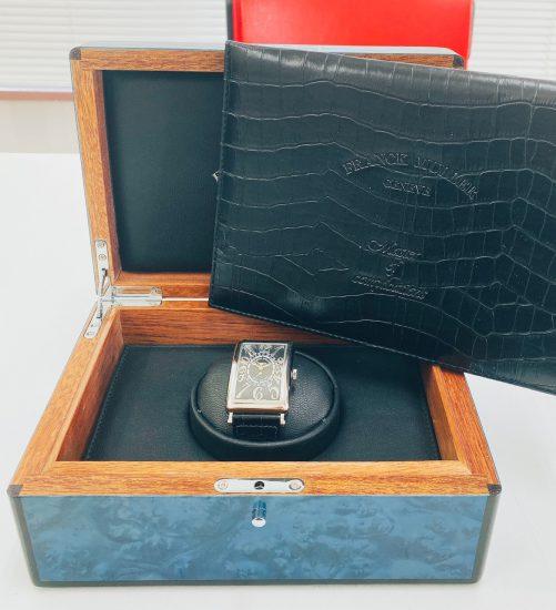 フランクミュラー ロングアイランド ビーレトログラード 黒文字盤 100本限定 1100DSRRELLTD メンズ